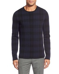 Hugo Regular Fit Check Crewneck Sweater