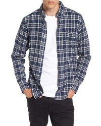 Naked & Famous Denim Regular Fit Plaid Flannel Shirt