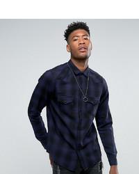 ASOS DESIGN Tall Regular Fit Western Check Shirt