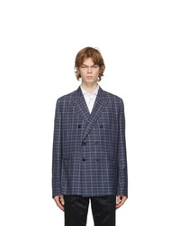 Paul Smith Navy Check Wool Soho Blazer