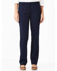 Plaid true straight pants medium 182371