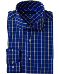 Andrew Fezze Andrew Fezza Long Sleeve Woven Plaid Dress Shirt Slim