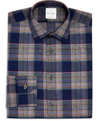 Paul Smith Broken Plaid Slim Fit Dress Shirt