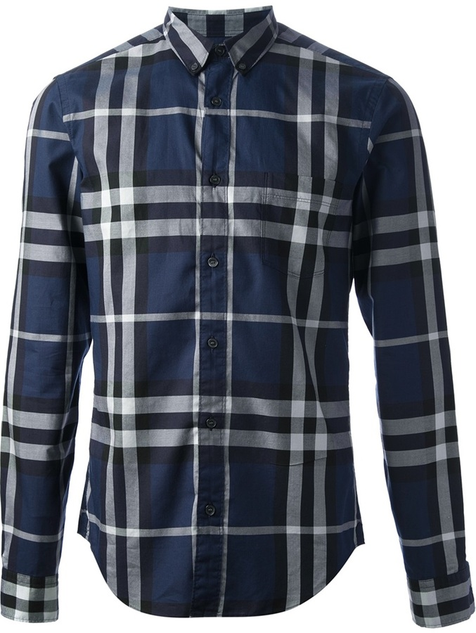 Burberry plaid dress images for Burberry brit checked shirt