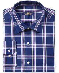 Classicregular fit framed triple plaid dress shirt created for macys medium 6860229