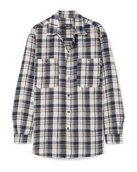 Isabel Marant Helyntony Oversized Plaid Cotton Shirt