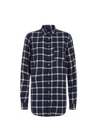 New Look Navy Check Hudson Rose Shirt