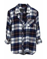 Rails Hunter Flannel Shirt In Navyivory