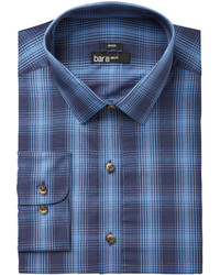 Bar III Slim Fit Stretch Easy Care Ombre Twill Plaid Dress Shirt Created For Macys