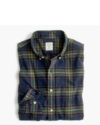 J.Crew Tall Oxford Shirt In Navy Ink Plaid