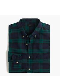 J.Crew Tall Vintage Oxford Shirt In Black Watch Plaid