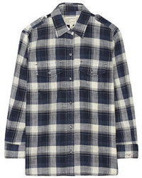 Current/Elliott The Perfect Plaid Cotton Shirt