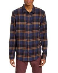 Vans Banfield Iii Plaid Button Up Flannel Shirt