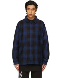 Vetements Blue Flannel Padded Shirt
