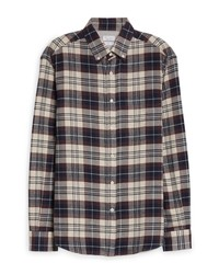 Brunello Cucinelli Loose Fit Plaid Flannel Shirt