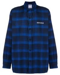 Marcelo Burlon County of Milan Tiger Check Pattern Shirt