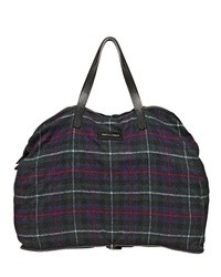 DSquared Foldable Check Wool Flannel Bag