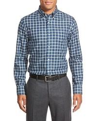 Nordstrom Big Tall Shop Smartcare Regular Fit Plaid Sport Shirt