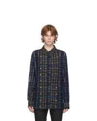 FREI-MUT Blue And Green Wool Nagy Shirt