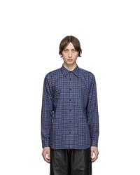 Tibi Blue And Multicolor Check Kingston Shirt