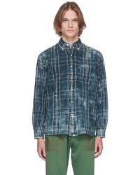 Polo Ralph Lauren Blue Beige Classic Fit Plaid Shirt