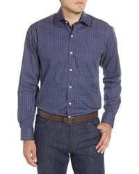 Peter Millar Branson Regular Fit Plaid Button Up Shirt