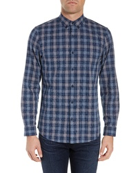 Calibrate Brushed Plaid Sport Shirt