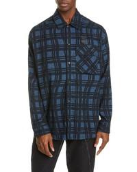 Off-White Check Arrow Cotton Flannel Shirt