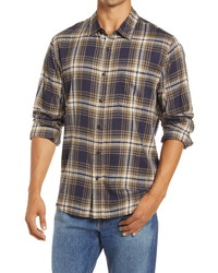 Frame Classic Fit Plaid Button Up Shirt