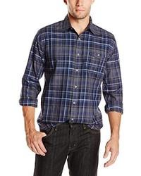 DKNY Jeans Long Sleeve Yarn Dye Heather Plaid Shirt