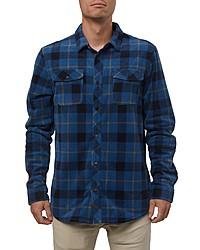O'Neill Glacier Plaid Snap Up Fleece Shirt