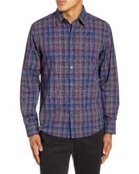 Zachary Prell Kong Regular Fit Plaid Button Up Shirt