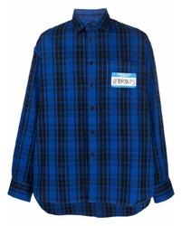 Vetements Logo Patch Check Print Shirt