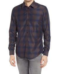 BOSS Lukas Regular Fit Plaid Button Up Shirt
