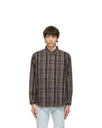 Levis Made and Crafted Navy And Brown Checkered New Standard Shirt