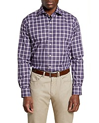 Peter Millar Old Forge Regular Fit Plaid Button Up Sport Shirt