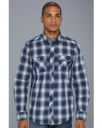 Ben Sherman Ombre Plaid Ls Woven Shirt Apparel