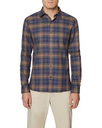 Hickey Freeman Plaid Button Up Shirt