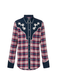 DSQUARED2 Plaid Embroidered Shirt