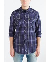 Urban Outfitters Salt Valley Western Plaid Button Down Shirt