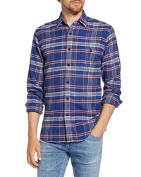 Faherty Seaview Regular Fit Plaid Flannel Button Up Shirt