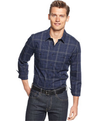 Calvin Klein Shirt Long Sleeve Window Plaid Shirt