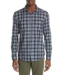 John Varvatos Collection Slim Fit Plaid Sport Shirt