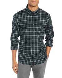Club Monaco Trim Fit Plaid Sport Shirt