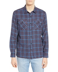 Hurley Walker Plaid Flannel Shirt