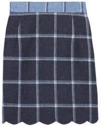 Coco checked wool mini skirt medium 65728