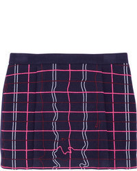 Embroidered wool blend mini skirt medium 65725