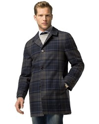 Tommy Hilfiger Tailored Collection Plaid Trench Coat