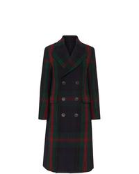 Burberry Tartan Wool Mohair Blend Tailored Coat
