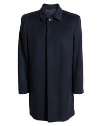 Hart Schaffner Marx Turner Plaid Wool Blend Topcoat